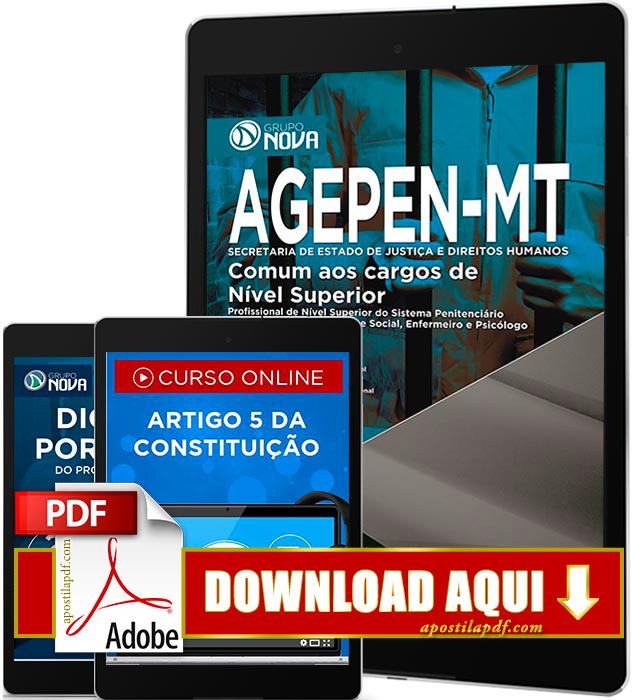 Apostila AGEPEN MT 2016 PDF Download Cargos de Nível Superior