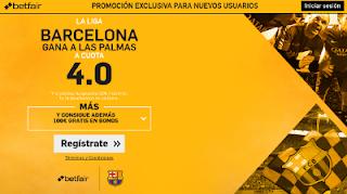 betfair supercuota 4 Barcelona gana Las Palmas Liga 14 enero