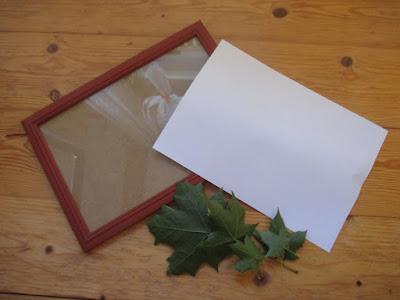 diy rámeček s listy
