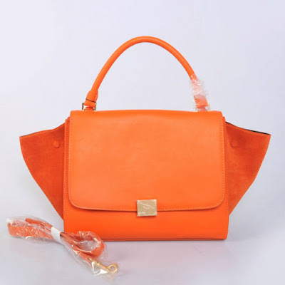orange leather handbags