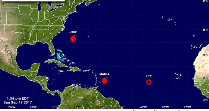 María se convierte en un huracán rumbo a las Antillas y Puerto Rico