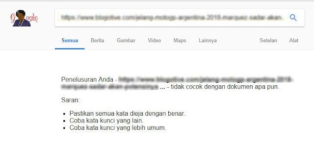 Solosi tidak terindex Google