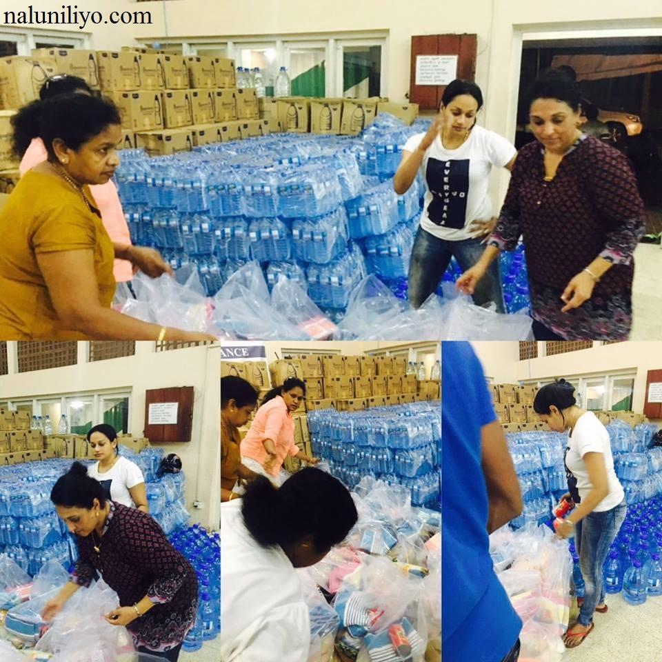 Janaki Wijerathne donating dry food