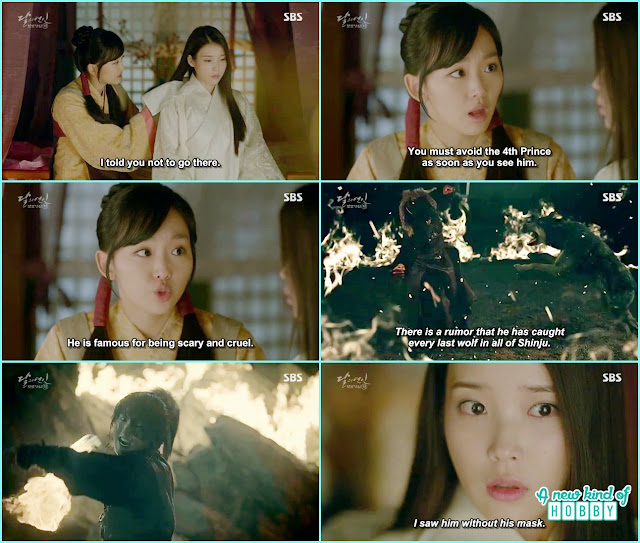 hae so maid warn her not to appear infront of 4th prince he is called wolf dog - Moon Lovers: Scarlet Heart Ryeo - Episode 2 Review