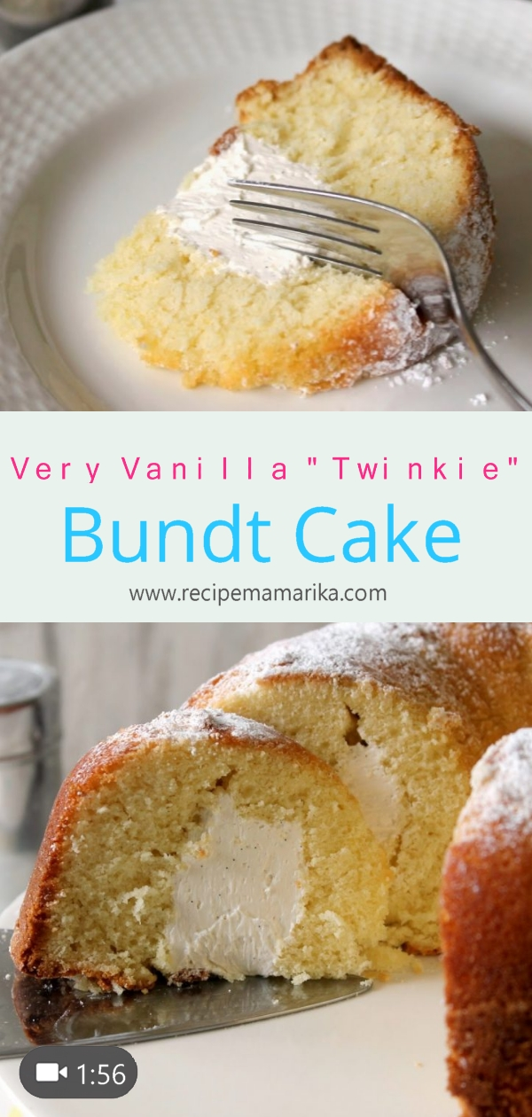"Very Vanilla ""Twinkie"" Bundt Cake"