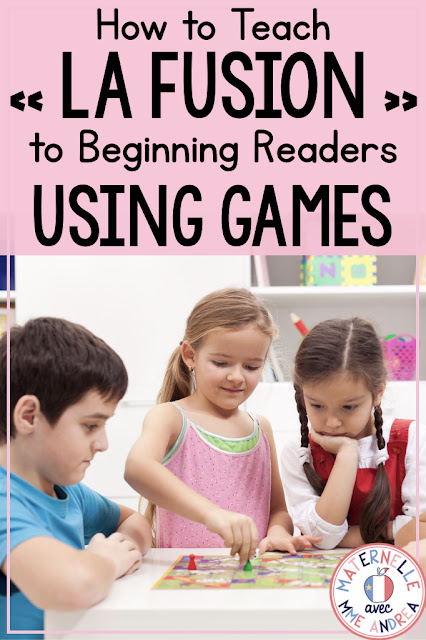 Trying to teach your maternelle students how to blend words (la fusion) to help them learn to read? There are lots of FUN ways to do it! Check out this blog post for a variety of fun games you can play with your French elementary students, and grab a FREE French speed reading blending game!