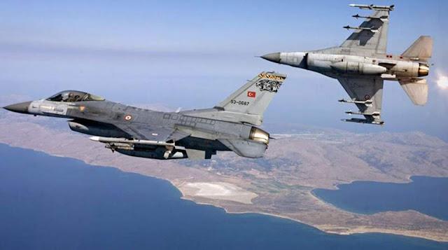 Δεκάδες παραβιάσεις του εθνικού εναέριου χώρου από τουρκικά μαχητικά