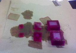 Diffusion in agar cubes
