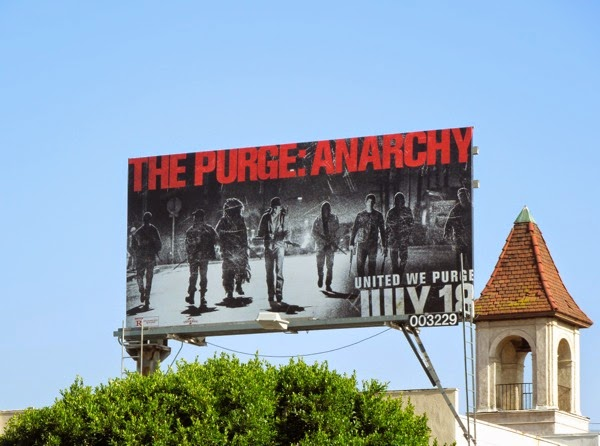 Purge Anarchy street gang billboard