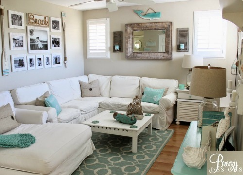 Beach Inspired Home Decor Accessories in Aqua