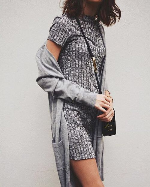 grey layers fashion