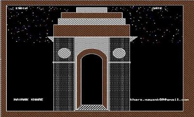 India Gate using C language graphics programming
