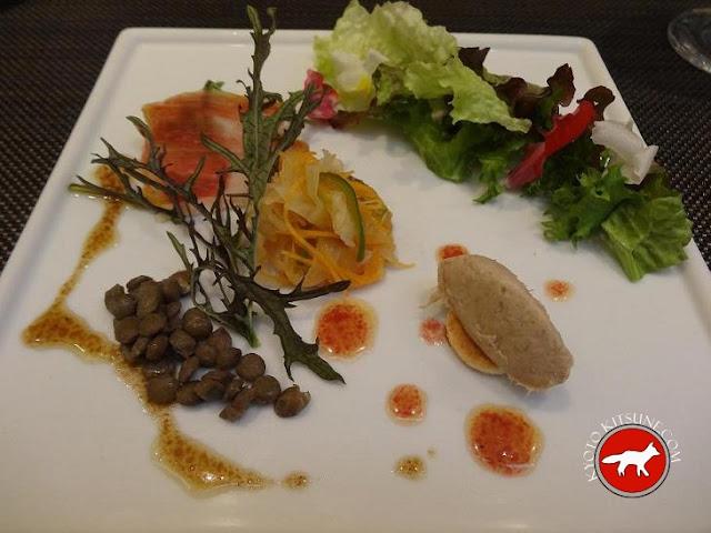 Salade du restaurant c'est sympa à Kyoto au Japon