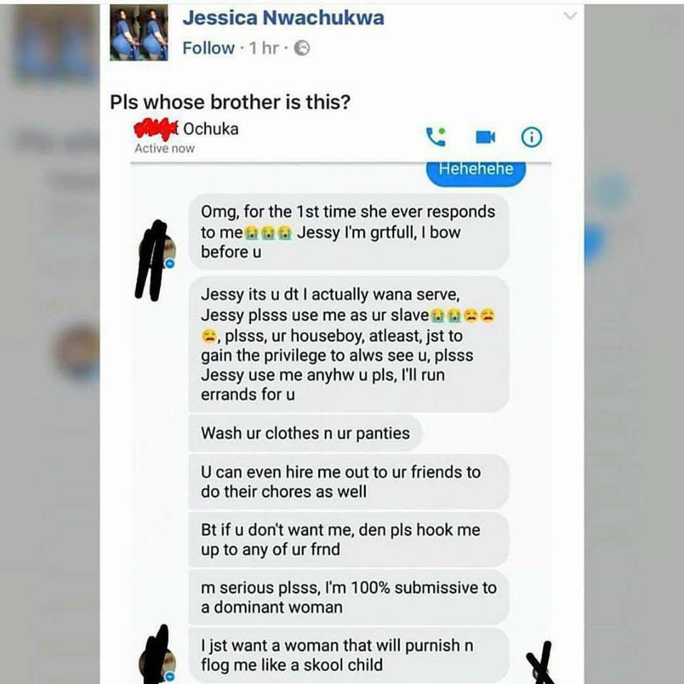Actually, a Nigerian boy sent these messages