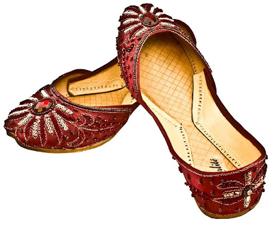 Womens Leather Khussa Jutti