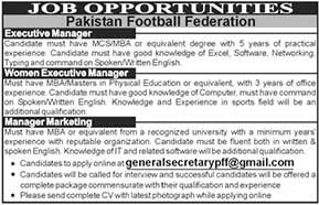 Latest Govt Jobs in Pakistan Football Federation 2018