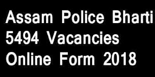 Assam Police Constable Bharti 2018