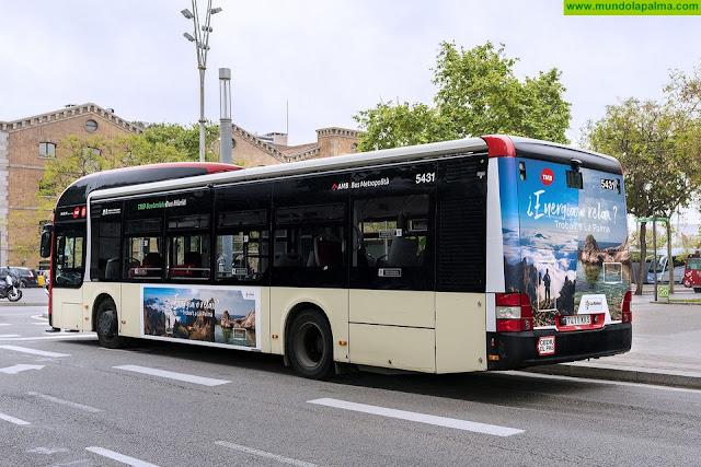 'La Isla Bonita' se promociona en guaguas turísticas y de línea de Madrid y Barcelona