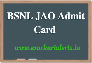 BSNL JAO Admit Card 2017