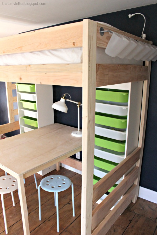 loft bed with work space underneath