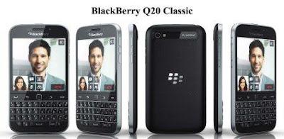 Harga BlackBerry Classic Q20 baru, Harga BlackBerry Classic Q20 bekas, spesifikasi BlackBerry Classic Q20