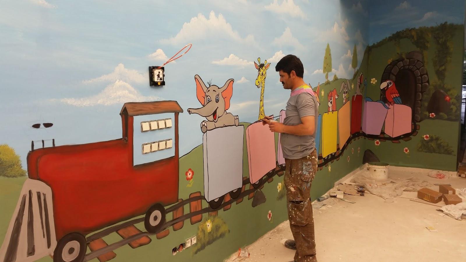 Anaokulu Kreş Duvar Boyama Sanati 8 Duvar Boyama Sanatı