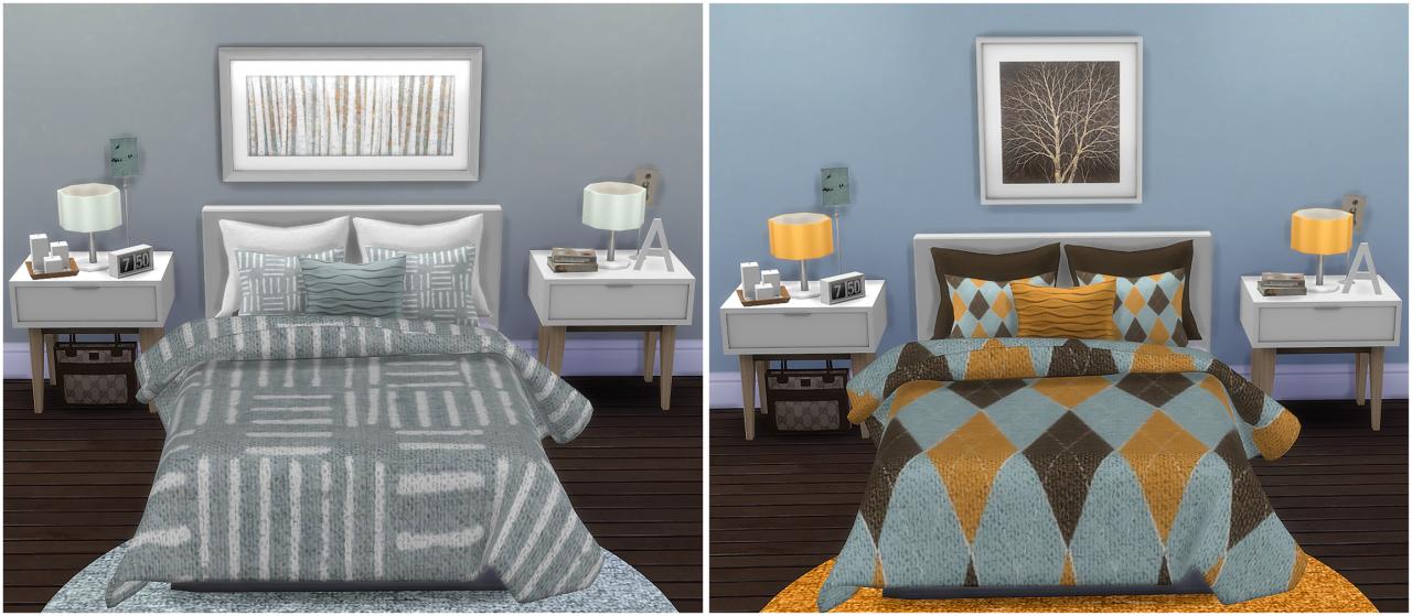 My Sims 4 Blog Bedding Set No 2 By Simplysplendid