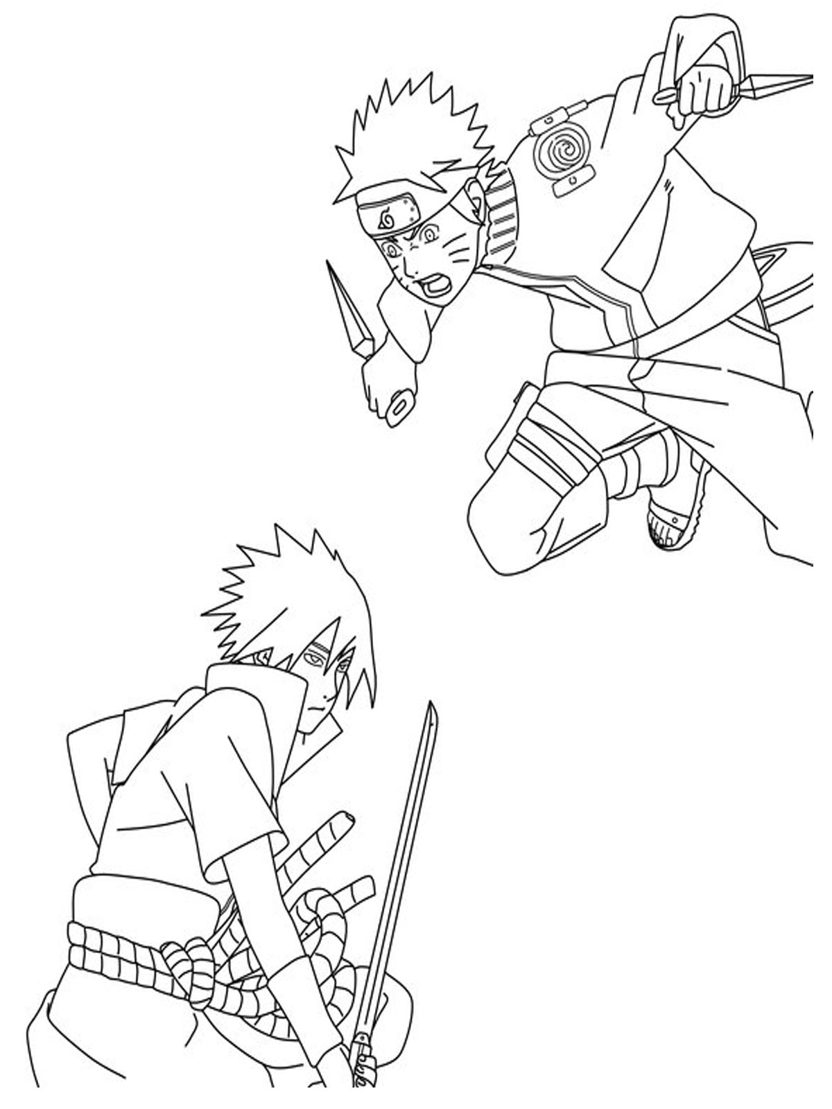It's just a photo of Punchy naruto and sasuke coloring pages