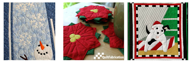 Let It Snow, Poinsettia Coasters, Santa's Helper quilts