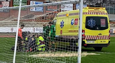 Fútbol Sitio Aranjuez Ambulancia Toni Morales