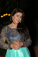 Nikki Galrani in Green Skirt  Top at Marakathamani music launch ~  Exclusive (108).JPG