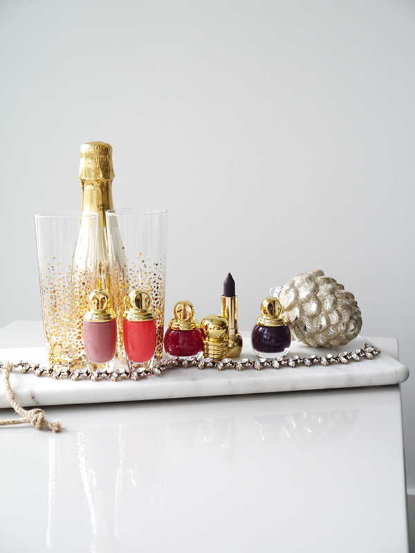 Dior holiday 2017 Precious Rocks Collection including: Diorific Vernis nail polish in 998 Amethyst and 745 Grenat, Diorific Matte Fluid lip and cheek colour in 005 Charm and 007 Desire, Diorific Khol lipstick in 991 Bold Amethyst