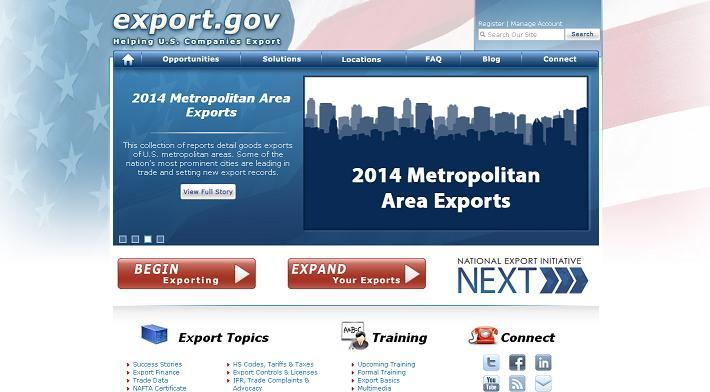 ABD'li üreticileri ihracata sevk etmek için hizmet veren bir sitedir.