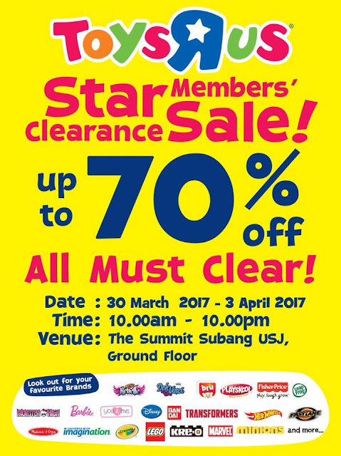 Toys R Us Malaysia Star Members' Clearance Sale