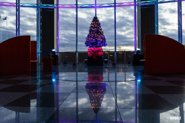 晴海客船ターミナルのクリスマスツリー