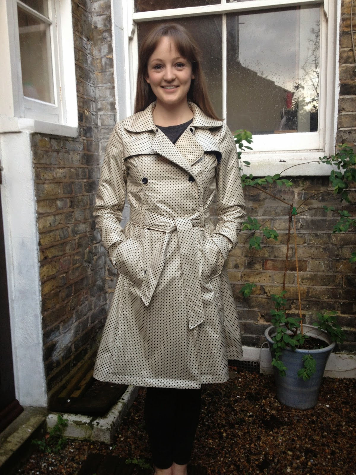 Diary of a Chainstitcher: Marc Jacobs Water Resistant Silk Dotted Robson Trench Coat