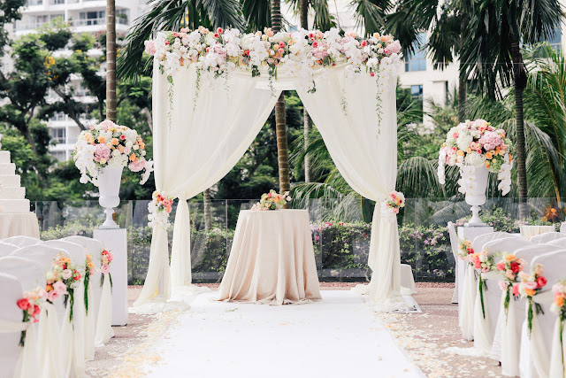 outdoor garden wedding singapore photo