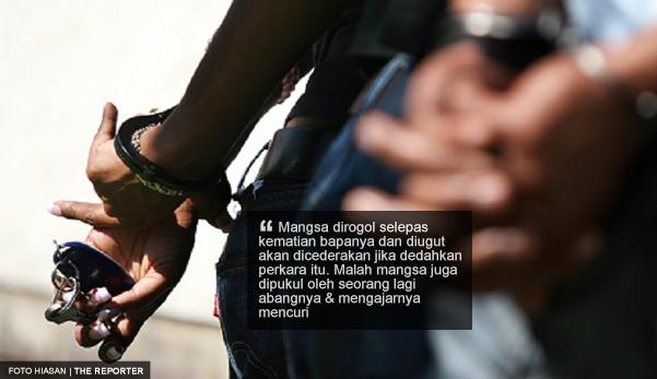 Remaja dipukul, diperkosa dan diheret atas jalan tar oleh dua abang kandungnya