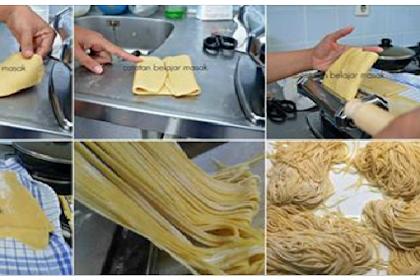Resep Membuat Mie Sendiri di Rumah Hasilnya Memang Jempolan, Bebas Bahan Kimia dan Higienis!!