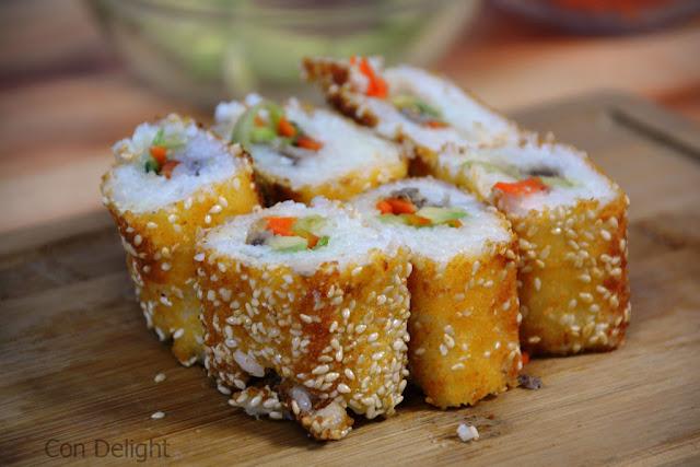 סושי אינסייד אאוט מטוגן Fried inside out sushi