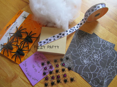 DIY invitation, Halloween, Michaels crafts, Joanns crafts, spider party