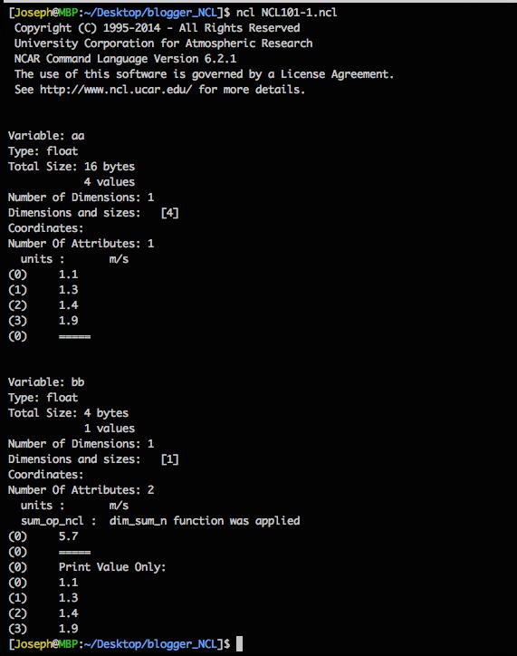 NCL 學習日誌: Day 1 開始使用NCL:第一隻script檔