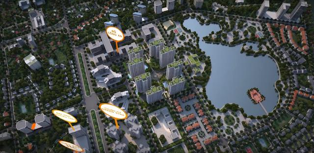 Phối cảnh từ trên cao dự án An Bình City