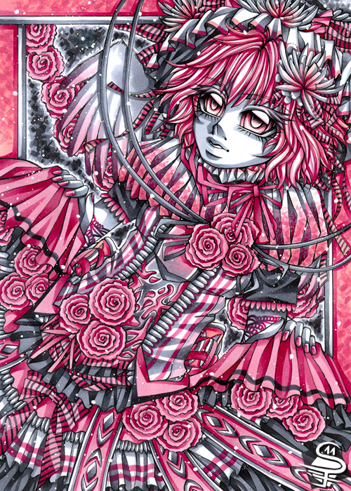 08-Little-Angel-Sandra-Filipova-DarkSena-Manga-Black-and-White-and-Colour-Detailed-Drawings-www-designstack-co
