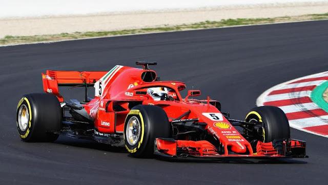 Tes F1 Barcelona: Vettel Jadi yang Terbaik di Hari Kedua