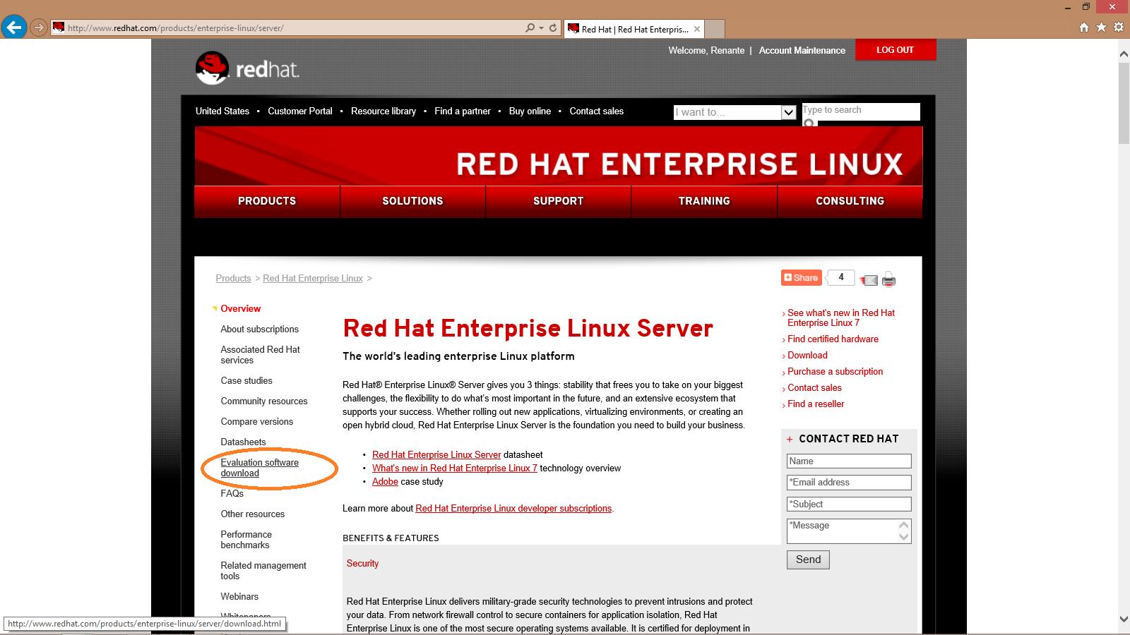 Step by Step: Installing Red Hat Enterprise Linux Server 7 | Renante