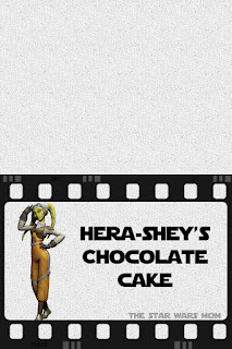 Hera Syndulla chocolate cake free printable food label