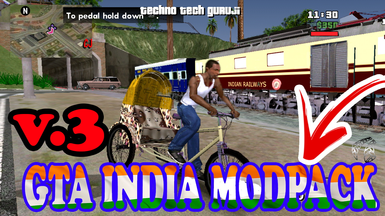 GTA INDIA MODPACK FOR GTA SA ON ANDROID ONLY 380MB ALL CPU