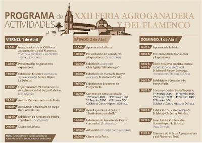 Programa de la XXII Feria Agroganadera de Los Palacios y Villafranca