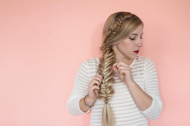 Mermaid hair tutorial: DIY double braided fishtail braid.